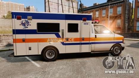 Brute CHMC Ambulance pour GTA 4 est une gauche