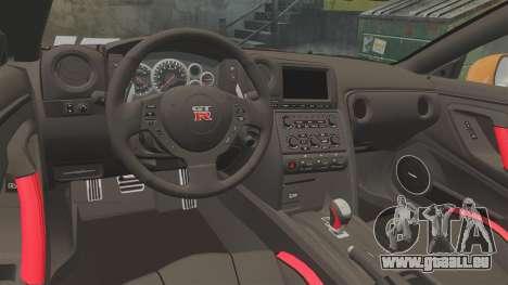 Nissan GT-R 2012 Black Edition NFS Underground für GTA 4 Innenansicht