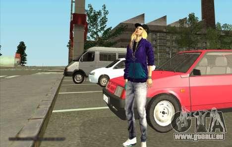 Skin Avril Lavigne pour GTA San Andreas deuxième écran