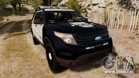 Ford Explorer 2013 LCPD [ELS] Black and Gray für GTA 4