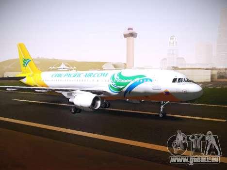 Airbus A320 Cebu Pacific Air für GTA San Andreas linke Ansicht