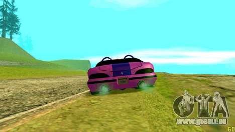 New Banshee pour GTA San Andreas laissé vue