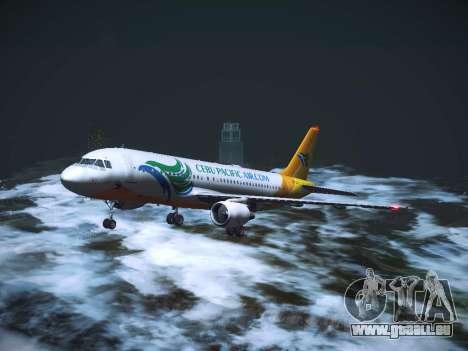Airbus A320 Cebu Pacific Air für GTA San Andreas obere Ansicht