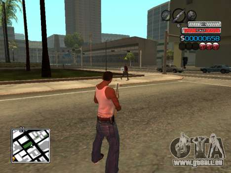 Die neue C-HUD für GTA San Andreas her Screenshot