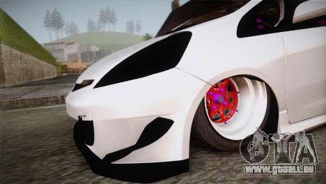 Honda Jazz RS Street Edition pour GTA San Andreas vue de droite