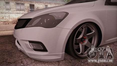 Kia Ceed 2011 SA Plates pour GTA San Andreas vue de droite