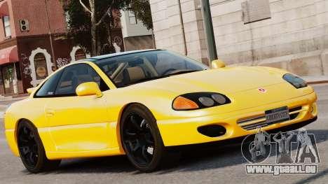 Dodge Stealth Turbo RT 1996 pour GTA 4 Vue arrière de la gauche