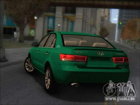 Hyundai Sonata 2009 für GTA San Andreas Rückansicht