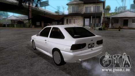Ford Escort 1996 pour GTA San Andreas sur la vue arrière gauche