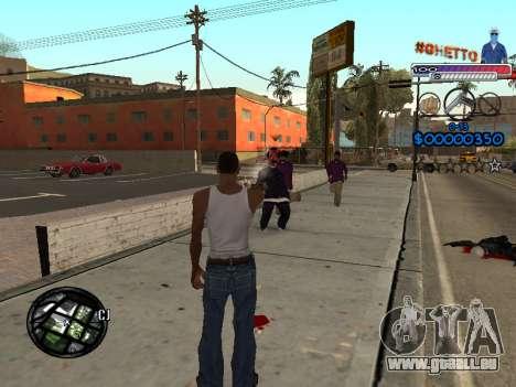 Le nouveau C-HUD Ghetto pour GTA San Andreas troisième écran