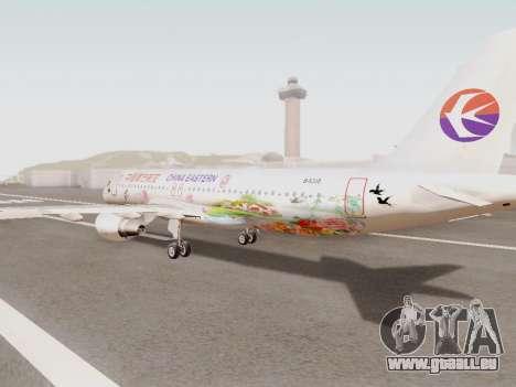 Airbus A320-211 China Eastern pour GTA San Andreas sur la vue arrière gauche
