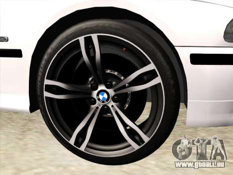 BMW 530d E39 für GTA San Andreas obere Ansicht