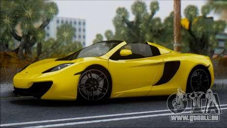 McLaren MP4-12C Spider für GTA San Andreas