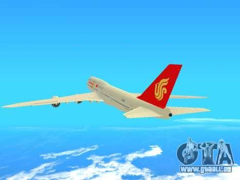 Boeing 747 Air China für GTA San Andreas Rückansicht