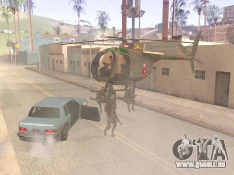 OH-6 Cayuse für GTA San Andreas Rückansicht