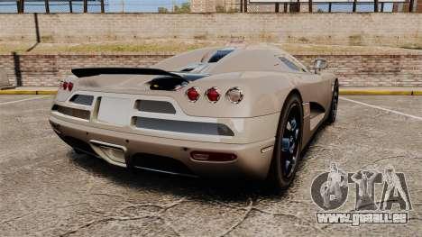 Koenigsegg CCX pour GTA 4 Vue arrière de la gauche