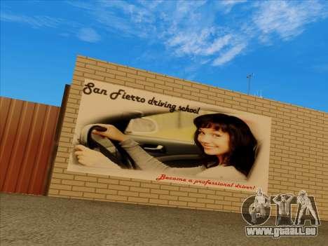 Mise à jour des textures à l'école de conduite pour GTA San Andreas deuxième écran