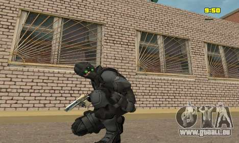 Archer à partir du jeu Splinter Cell Conviction pour GTA San Andreas troisième écran