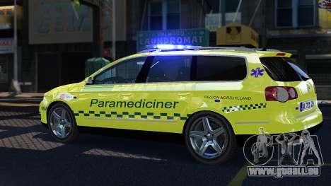 Volkswagen Passat Variant 2010 Paramedic [ELS] pour GTA 4 est une gauche