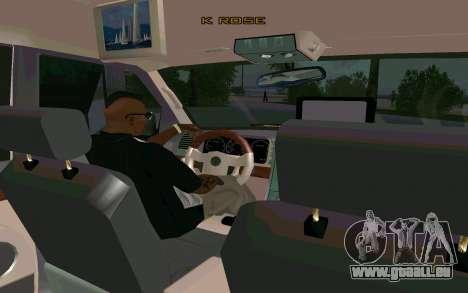Lincoln Navigator DUB Edition pour GTA San Andreas sur la vue arrière gauche