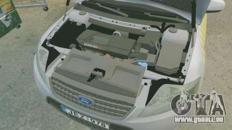 Ford Mondeo Hungarian Police [ELS] pour GTA 4 est une vue de l'intérieur