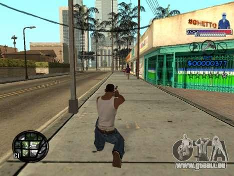 Le nouveau C-HUD Ghetto pour GTA San Andreas sixième écran