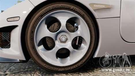 Koenigsegg CCX pour GTA 4 Vue arrière