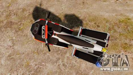 Portugais motocyclette de la police [ELS] pour GTA 4 Vue arrière de la gauche