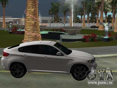 BMW X6M 2010 pour GTA San Andreas vue de dessus