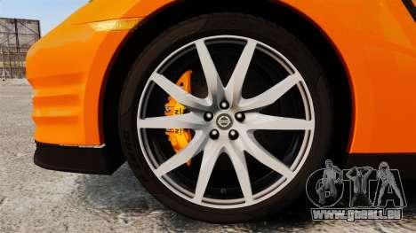 Nissan GT-R 2012 Black Edition NFS Underground für GTA 4 Rückansicht