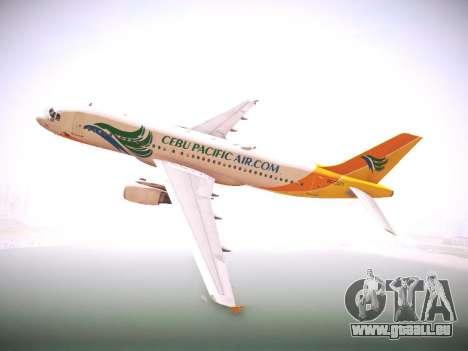 Airbus A320 Cebu Pacific Air für GTA San Andreas Rückansicht
