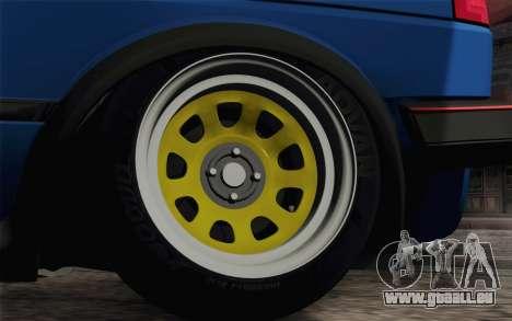 Volkswagen Golf MK2 LowStance für GTA San Andreas Rückansicht