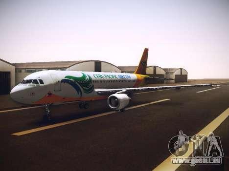 Airbus A320 Cebu Pacific Air für GTA San Andreas Innenansicht