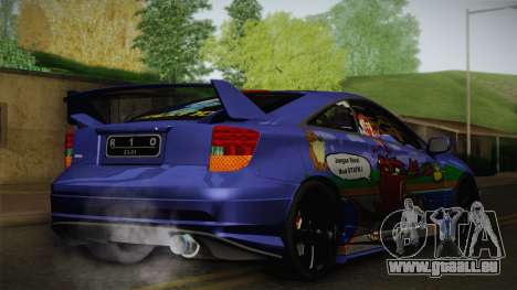 Toyota Celica Taz Mania Street Edition für GTA San Andreas zurück linke Ansicht
