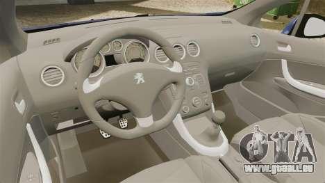 Peugeot 308 GTI für GTA 4 Innenansicht