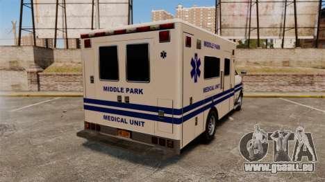 Brute MPMU Ambulance pour GTA 4 Vue arrière de la gauche
