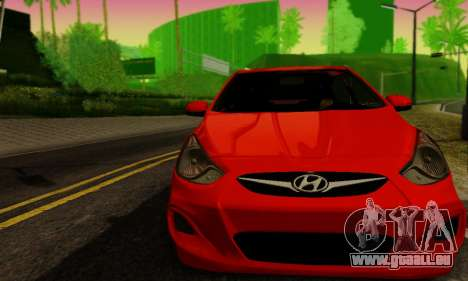 Hyndai Solaris pour GTA San Andreas sur la vue arrière gauche