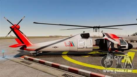 Annihilator U.S. Coast Guard HH-60 Jayhawk pour GTA 4 est une gauche