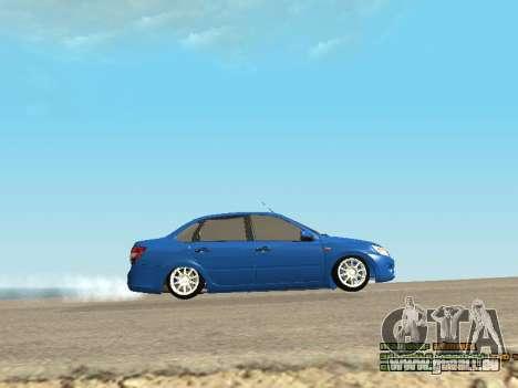 VAZ 2190 pour GTA San Andreas vue de côté