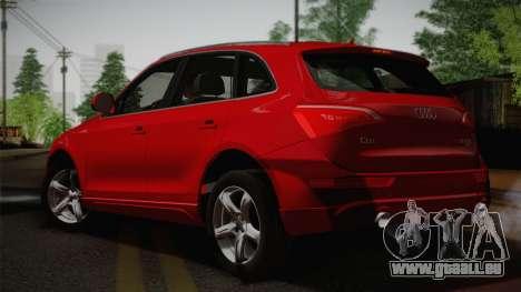 Audi Q5 2012 pour GTA San Andreas laissé vue