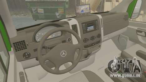 Mercedes-Benz Sprinter 2500 2011 Hungarian Post für GTA 4 Innenansicht