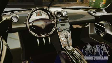 Koenigsegg CCX pour GTA 4 est une vue de l'intérieur