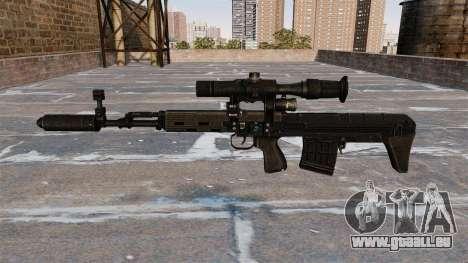 SVD fusil de sniper raccourcie pour GTA 4 troisième écran
