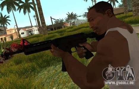 M4 CQB pour GTA San Andreas troisième écran