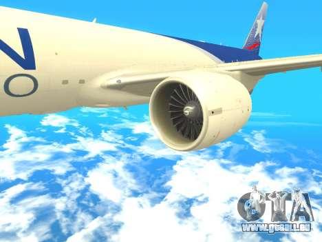 Boeing 777 LAN Cargo für GTA San Andreas rechten Ansicht