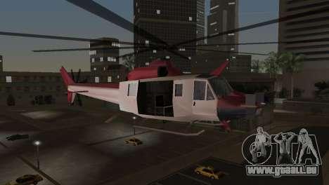 Bell HH-1D pour GTA Vice City sur la vue arrière gauche