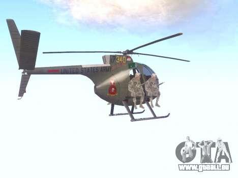 OH-6 Cayuse für GTA San Andreas rechten Ansicht