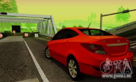 Hyndai Solaris pour GTA San Andreas vue arrière