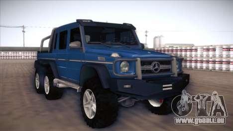Mercedes-Benz G63 AMG 6X6 pour GTA San Andreas laissé vue