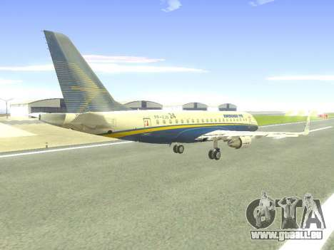 Embraer 175 HOUSE für GTA San Andreas obere Ansicht